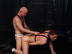 Two kinky merry lovers satisfying each other's desires in the dungeon