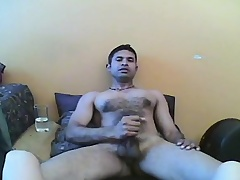 Billy puts his oral skills primarily display and then makes himself cum hard