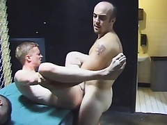 Gay group sex with hot blowjobs and nasty botheration fucking by the four