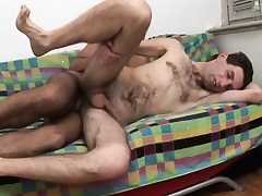 Twink spanks ass and then gives him head before he gets his ass nailed