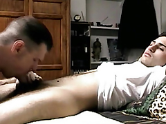 Seduced straight guys little Hawkshaw sucked