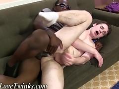 Gay gets interracial making love