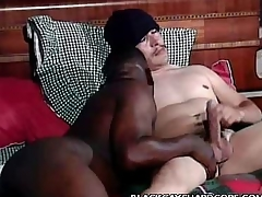 Negroid Gay Mouthing a Cock
