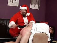 ST00S18 Santa Spanks a Cast off Boy