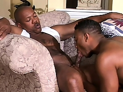 Cute felonious twink has a muscled ebony stud drilling his in the final hole