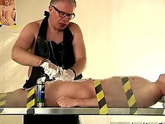 Twink movie Master Kane drains and deep-throats him, shaves