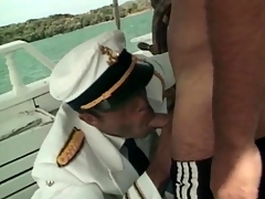 Sailors away of reach of a motor yacht take a crack at hot anal sex