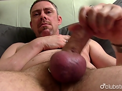 Mature Kindest Jerking Off His Penis