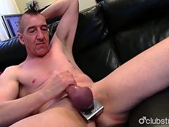 Pierced Straight Marc Jerking Off His Pecker