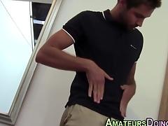 Amateur brick squirts his tax after unique cock paroxysmal action