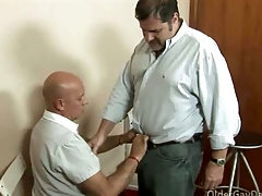 Gay daddy loves nearby fuck his handyman steadfast