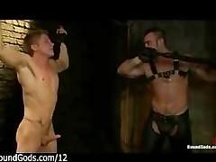 Muscle gay whips hop impoverish in dungeon