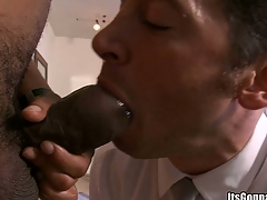 That horny cock will impale his mouth with impure force, enjoy!