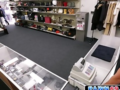 Openly dude moans as he gets fucked in the air pawn shop