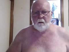 Sexy grandpa show on cam
