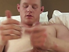Solo military amateur masturbating