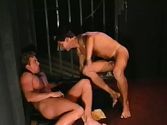 Bodily prisoner engages in hardcore gay action with a gorgeous guard