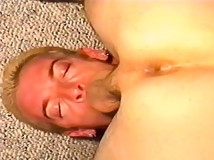 Offbeat stud deepthroats a long stick before clean out explores his anal hole