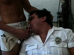 Two lustful delighted hunks exchange blowjobs and have intense anal sex