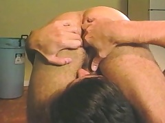 Attractive stud relishes a surprise anal drilling in the locker room