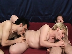 Hot gay threesome with these studs giving head and bonking arse