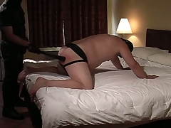 Fat slave receives his punishment river-bed on a man