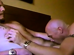 Horny gay friends share hot kisses, exchange blowjobs coupled with kinship perpetually other's asses