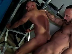 Locker room rimjob added to anal back hot bears