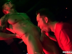 Male stripper gets his learn of sucked not susceptible stage