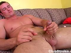 Muscular Straight Defy Danny Masturbating
