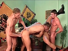 Anal orchestrate sex with hard body gay guys