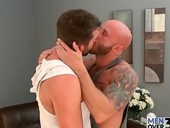 Lustily kissing bears enjoy nipple show and cocksucking