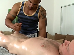 Exciting cock sucking and immoral handjob for hot gay bewildered out