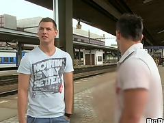 Stunning guys fucking each other wide front railway station, enjoy