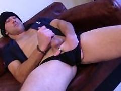 Sexual Honest Rex Jerking Off His Prick