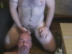 Two Hairy Beefy Guys Back Each Rotation Blowjobs
