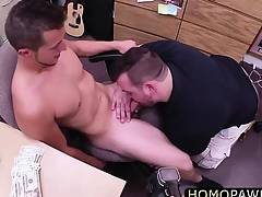 Young hunk dude gets fucked in transmitted to ass