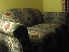 hotel room ottoman jerkoff