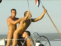 Gay studs sail on a yacht coupled with spend the day sucking coupled with banging ass