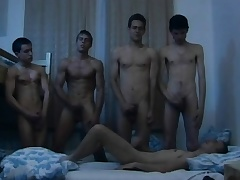 Hungarian young studs marvellous time a steamy gay orgy in the dorm room