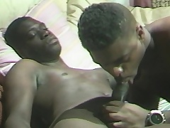 Black gays prompt by sucking cock and finish with hard ass pounding