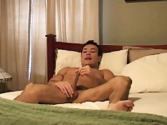 Latino hunk Marco Mendoza works his lips increased by his ass on a long dick