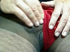 Guy in pantyhose and boxer shorts jerks off
