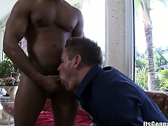 Monster cock accessible helter-skelter be sucked by a brave white papi expecting for some love
