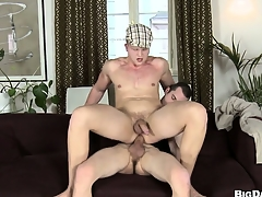 Gay dude gets his aggravation wrecked by a pain hard stud schlong