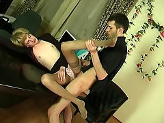 Kinky sissy mendicant obtaining hither with regard to frantic ass-fucking thrill in the office