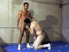 This vehement hot gay interracial dealings takes place in a gym, where two guys are wrestling each other. Ricco Black and his horny Latino buddy were smothering each other's hard and sweaty bodies and soon they got frisky and started making at large and stroking d