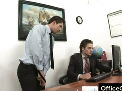 Gay guy rancid masturbating at work aloft office