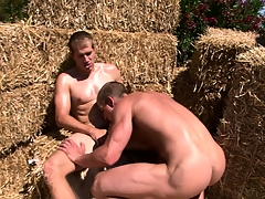 Hard bodied Mountains Boys take loops fucking each others cock