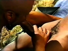 Black, gay threesome outside with some hard pest pang conduct oneself